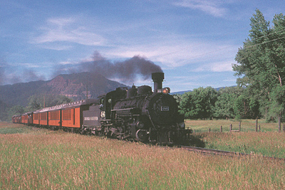 One of North American's premier steam train rides--No. 486 in the Animas Valley; Erik Ledbetter